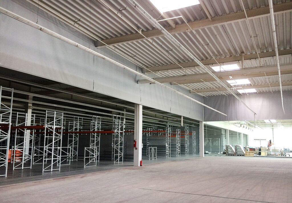 Применение противопожарных и противодымных штор на объектах производственного назначения