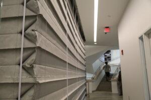 Объемно-пространственное решение противопожарной, противодымной шторы